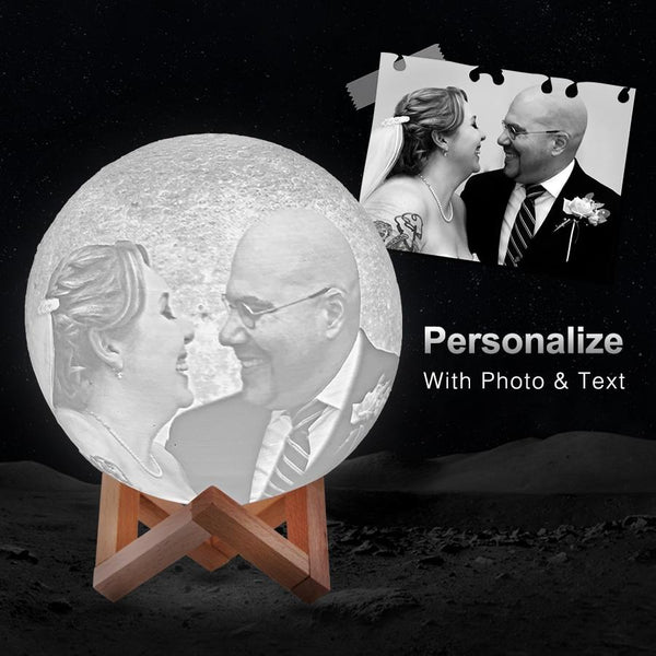 best weeding gift ideas for couples, customized 3D moon led light