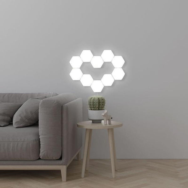living room decoration touch sensor hexagonal led wall lights