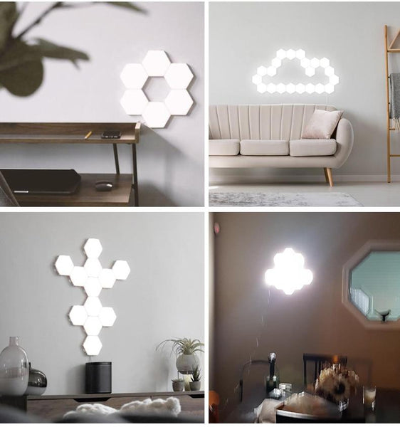 room decoration with touch sensor hexagonal led wall lights