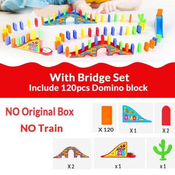 dominos in train toy train games