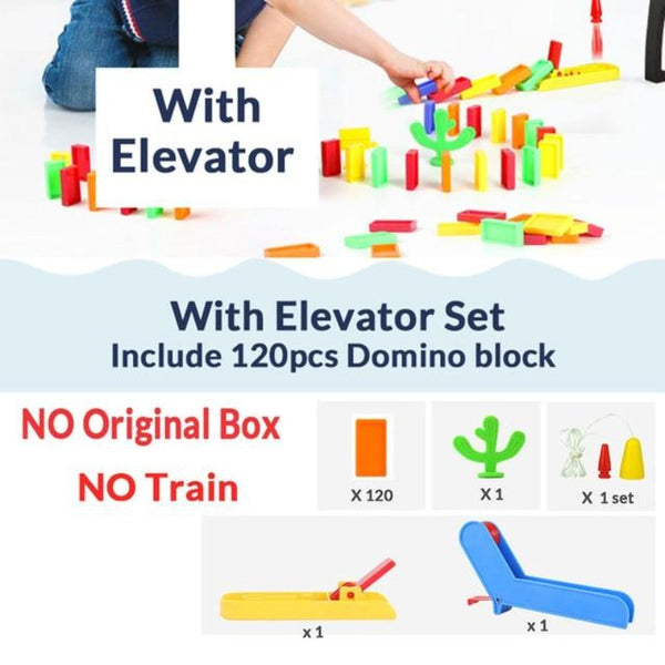 Automatic Brick Laying Domino Train Toy  | Train Games