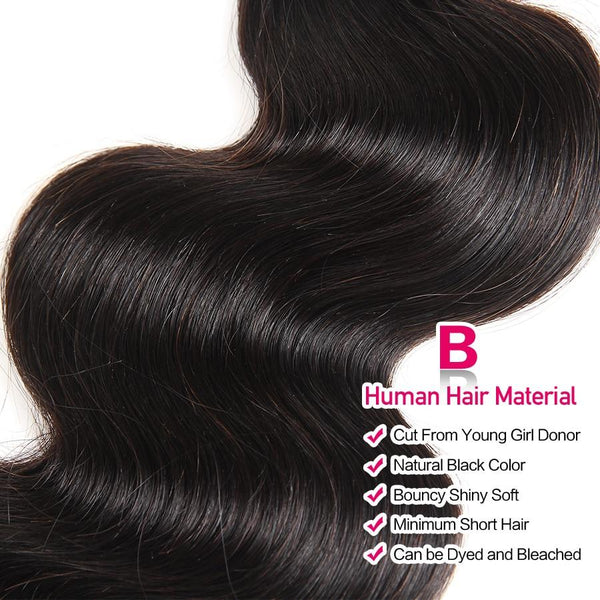 brazilian human hair bundles with closure