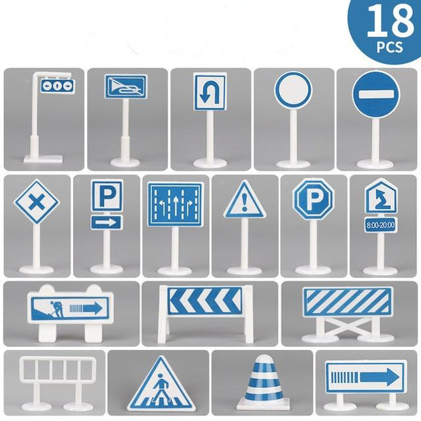 Large City car park baby play mat with traffic sign