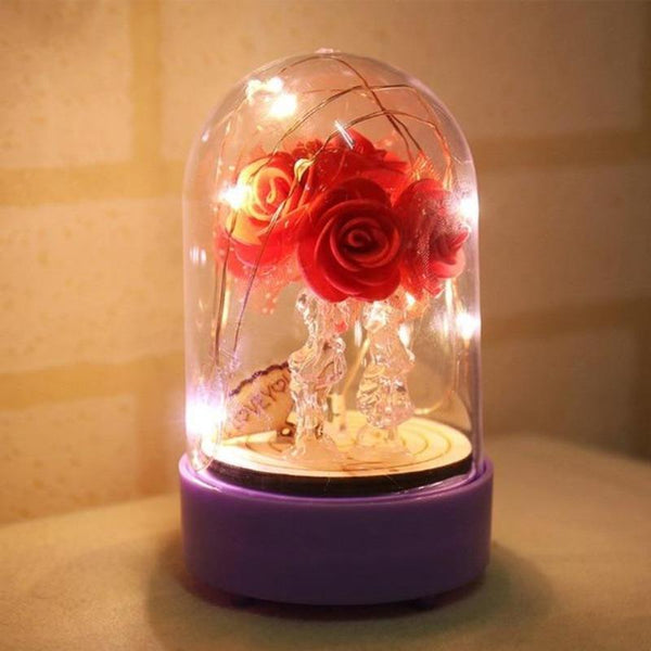 beauty and the beast rose with music