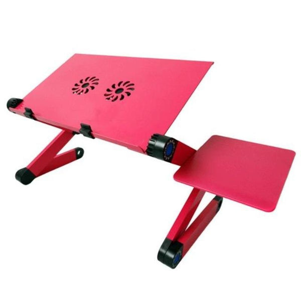 adjustable laptop stand for bed with mouse pad