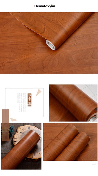 Wood grain Texture Wallpaper | Waterproof Self Adhesive Wall Sticker
