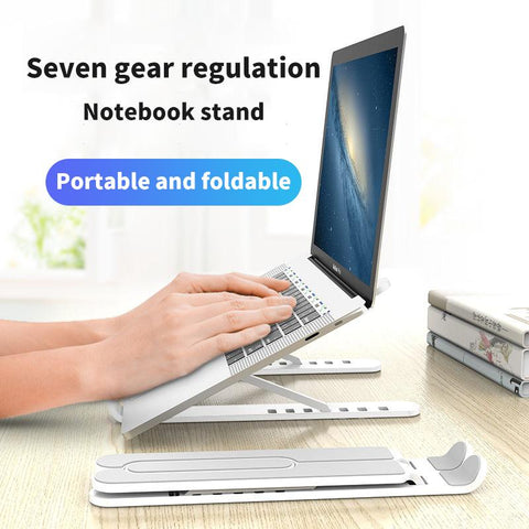 Foldable Laptop Stand for Desk With Cooling Bracket Riser