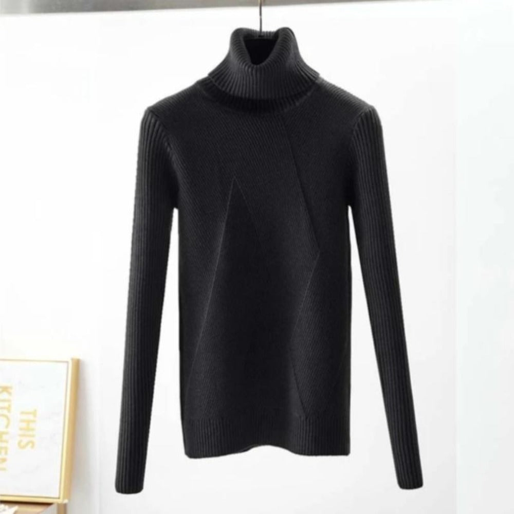 Women's Long Sleeve Turtleneck Sweaters - day2daygadget