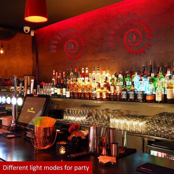 decorative Spiral Led wall Lights for party and bar decoration