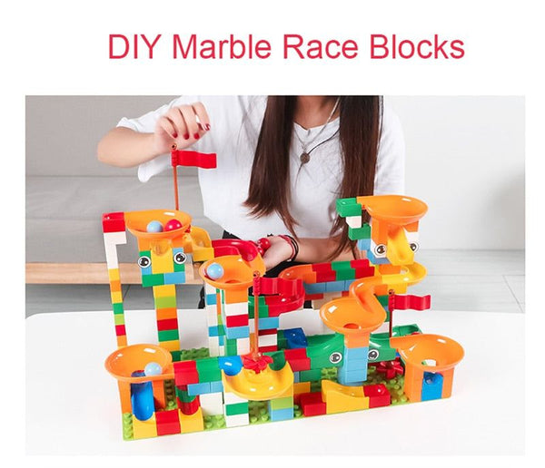 74-296 PCS Marble Race Run Maze Ball Track Building Blocks ABS Funnel Slide Assemble Bricks Compatible LegoINGlys Duploe Blocks, race run maze balls track, race run maze balls track building blocks educational bricks, race run maze balls track building blocks educational bricks toy, race run maze ball track building, marble race run maze ball track building blocks, marble race run maze ball track