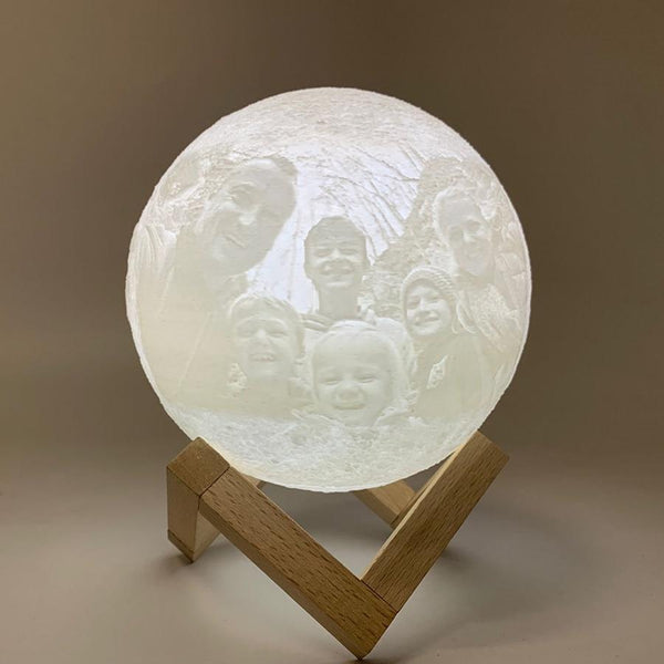 customized 3D printed moon lamp