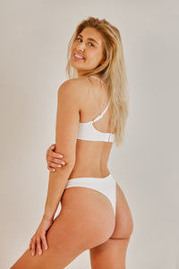 The Astrid Thong White