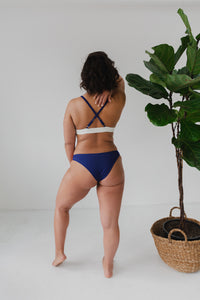 The Nerida Bikini Top - Navy