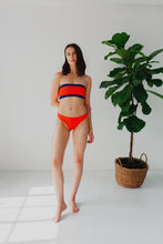 Load image into Gallery viewer, Sierra Bikini Top - Coral and Blue