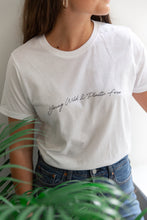 Load image into Gallery viewer, Young Wild + Plastic Free Tee White