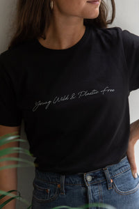 Young, Wild + Plastic Free Tee