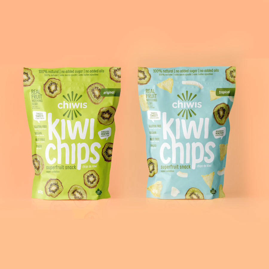 Mixed Chiwis Kiwi Chips - 100% natural, gluten free and vegan chips