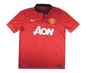Manchester United 2013-14 Home Shirt Vidic #15 (Excellent) L