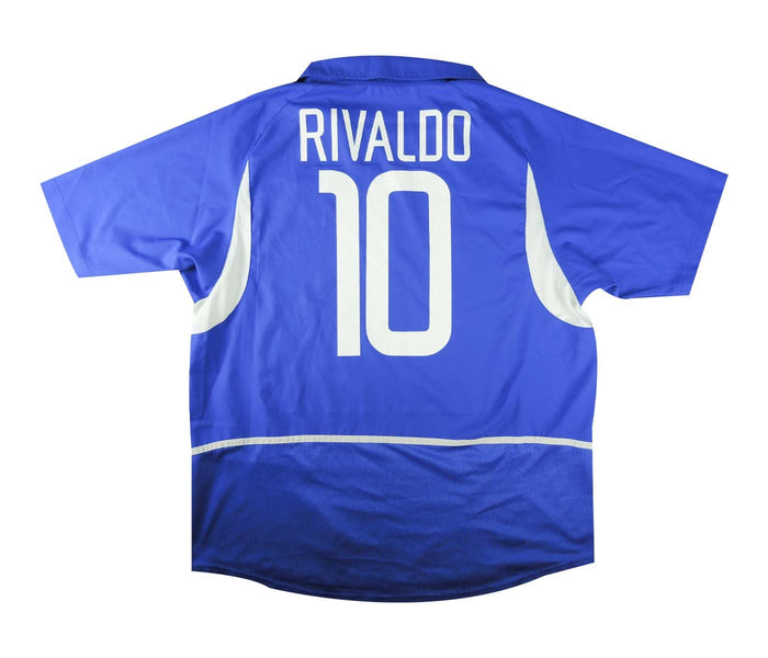 Brazil 2002-04 Away Shirt Rivaldo #10 (Excellent) XL