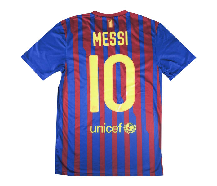 Barcelona 2011-12 Home Shirt Messi #10 (Excellent) L