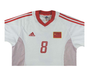 China 2002-04 Away Shirt Li Tie #8 (Excellent) M