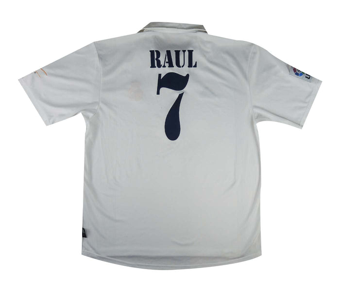 Real Madrid 2001-02 Centenary Home Shirt Raul #7 (Excellent) L