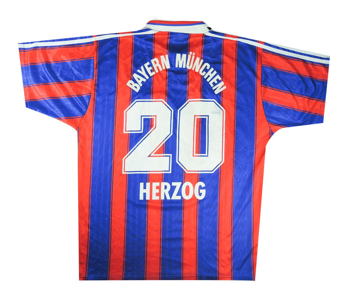 Bayern Munich 1995-97 Home Shirt Herzog #20 (Very Good) XL