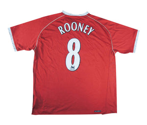 Manchester United 2006-07 Home Shirt Rooney #8 (Excellent) L