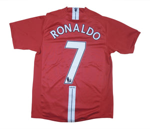 Manchester United 2007-08 Home Ronaldo #7 (Very Good) S