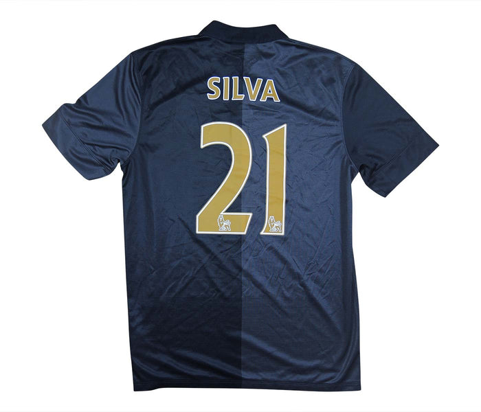 Manchester City 2013-14 Away Shirt Silva #21 (Excellent) M