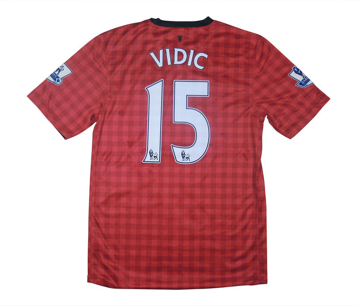 Manchester United 2012-13 Home Shirt Vidic #15 (Excellent) S