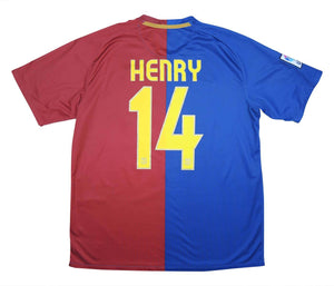 Barcelona 2008-09 Home Henry #14 (Very Good) L