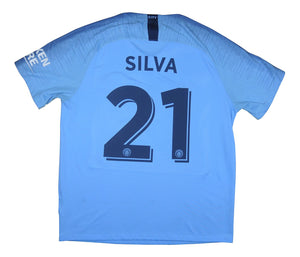 Manchester City 2018-19 Home Shirt Silva #21 (Very Good) XL