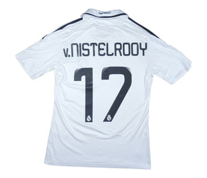 Real Madrid 2008-09 Home Shirt v.Nistelrooy #17 (Excellent) S