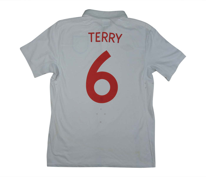 England 2009-10 Home Shirt 'South Africa' Terry #6 (Very Good) M