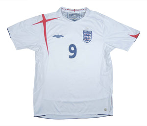 England 2005-07 Home Shirt Rooney #9 (Excellent) L
