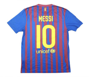 Barcelona 2011-12 Home Shirt Messi #10 (Excellent) M