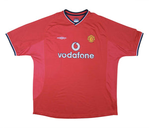 Manchester United 2000-02 Home Shirt (Excellent) XXL