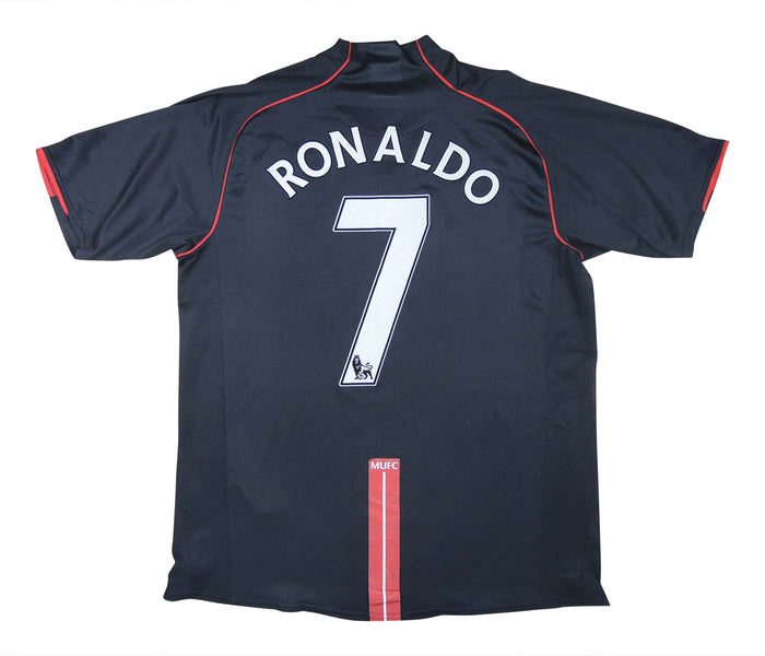 Manchester United 2007-08 Away Shirt Ronaldo #7 (Good) L