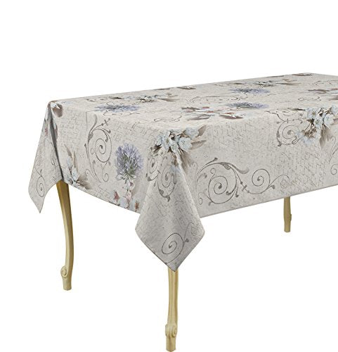 My Jolie Home Tablecloth, Stain Resistant, Spill Proof, Liquid Spills Beige Romance