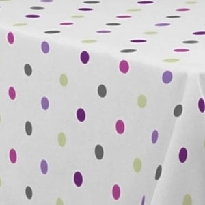 My Jolie Home Tablecloth Multicolor Dots, Stain Resistant, Washable, Liquid Spills Bead up, Seats 4 to 6 People (Other 63-Inch Round, 60 x 80-Inch, 60 x 95-Inch, 60 x 120-Inch)