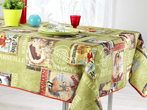 My Jolie Home Tablecloth, Stain Resistant, Spill Proof, Liquid Spills Olive Oil