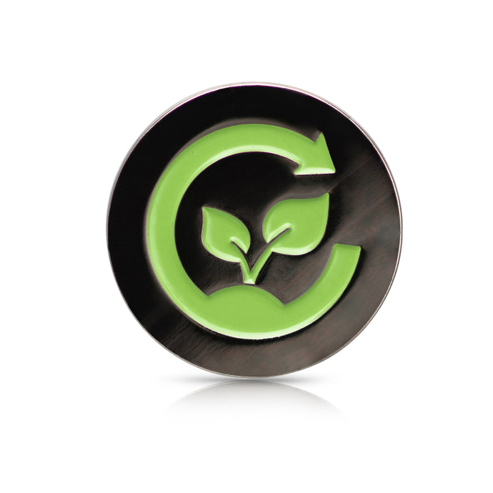 Black Nickel (Green Symbol) Compost Label