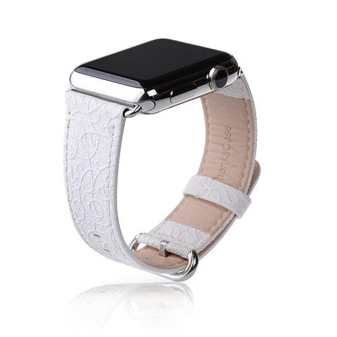 Apple Watch Band,Thankscase 38mm Genuine Leather Strap Wrist Band Replacement,Top quality Metal Clasp for Apple Watch All Models.