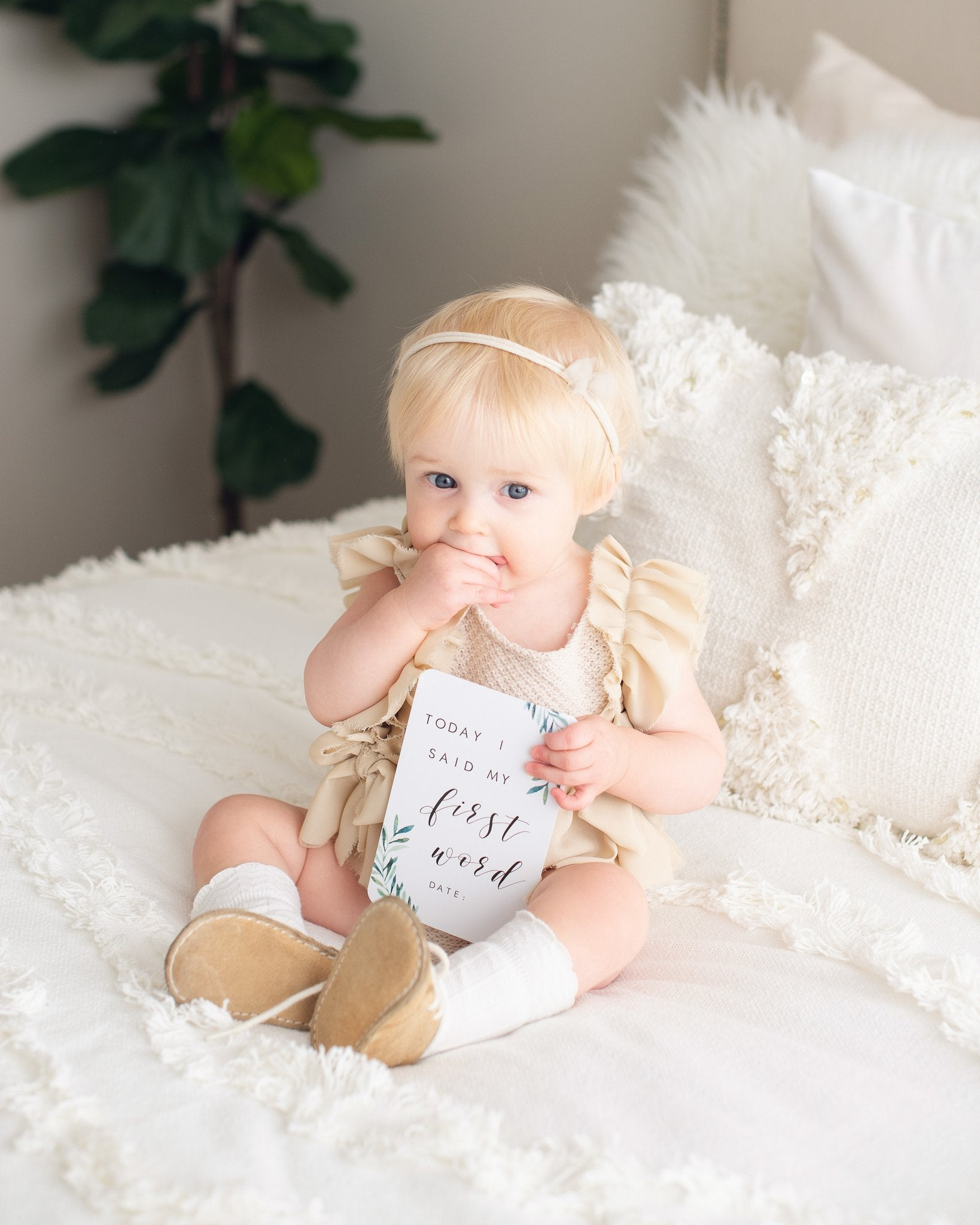 Evergreen | Baby Milestone Cards | Blossom & Pear