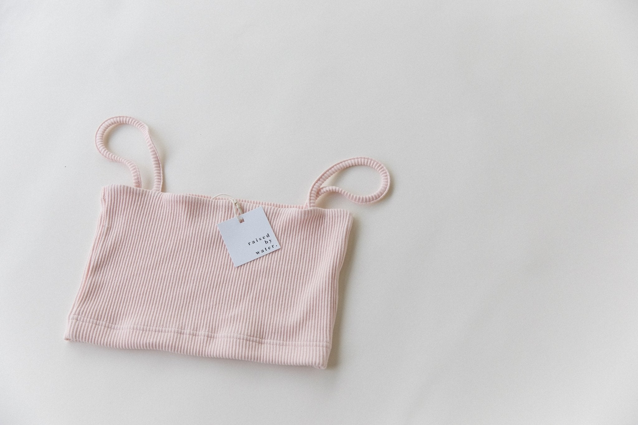 Light Pink | Women's Ribbed Crop | Raised By Water