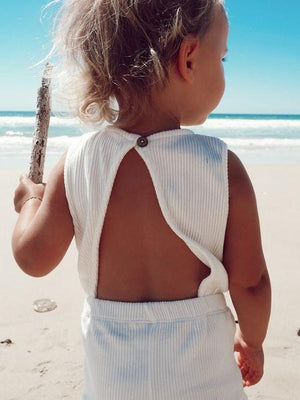 Coconut | Ribbed Playsuit | Elsie May