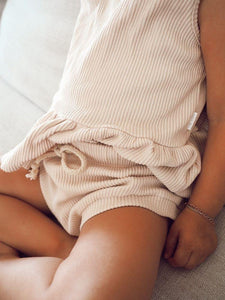 Sand | Ribbed Shorties | Elsie May