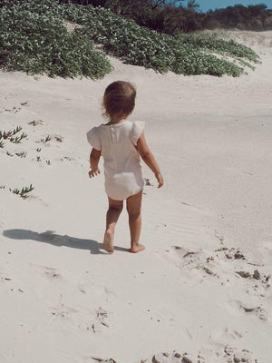 Sand | Ribbed Bodysuit | Elsie May
