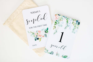 Wildflower | Baby Milestone Cards | Blossom & Pear